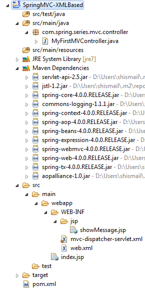 1_SpringMVC-XMLBased-Project-Structure