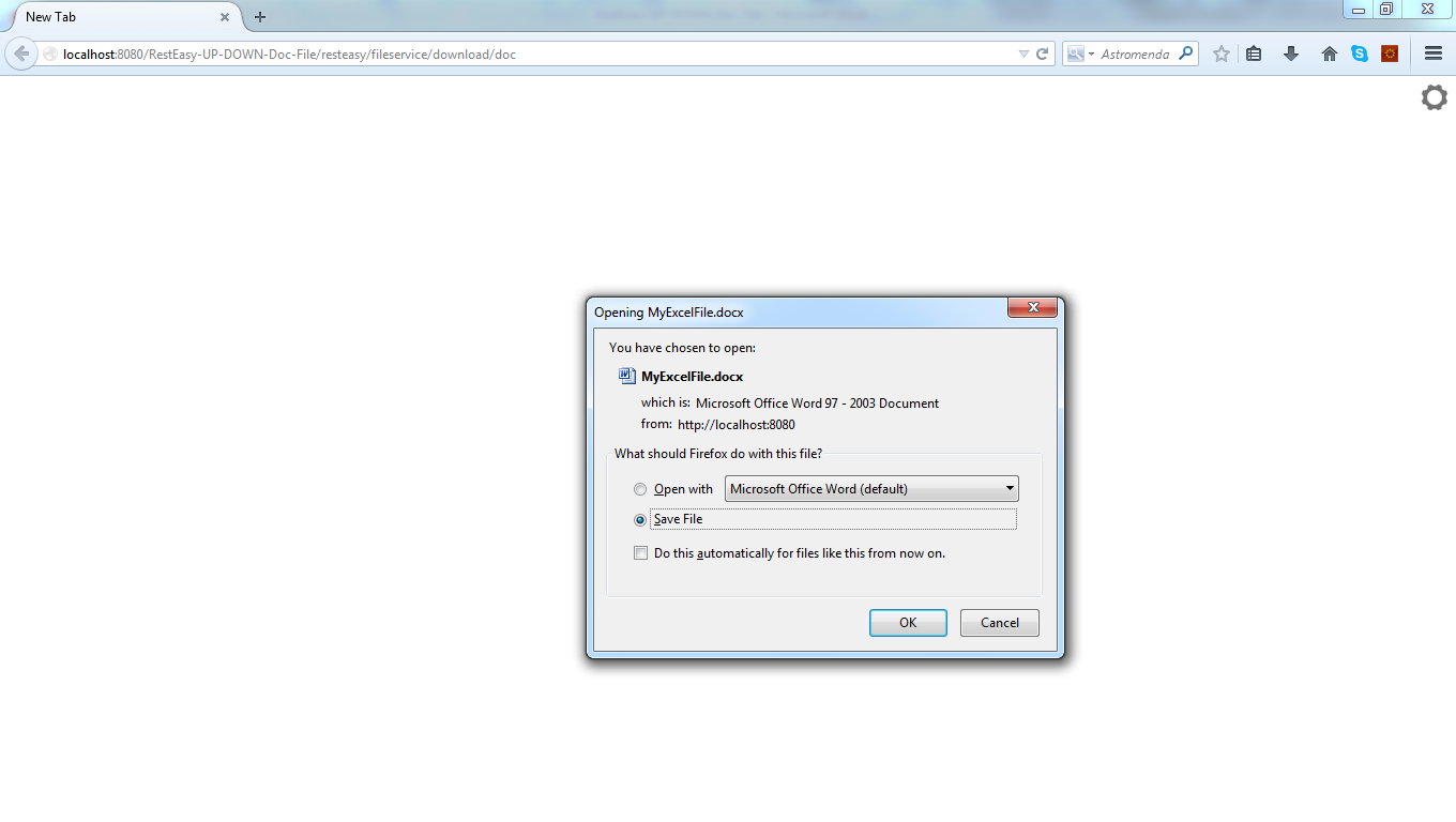Resteasy jax rs web service for uploading downloading for Java word documents