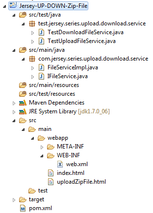 Jersey 2 x web service for uploading/downloading Zip file +