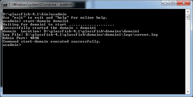 5_glassfish-4-1_command_prompt_asadmin_start_cmd_success