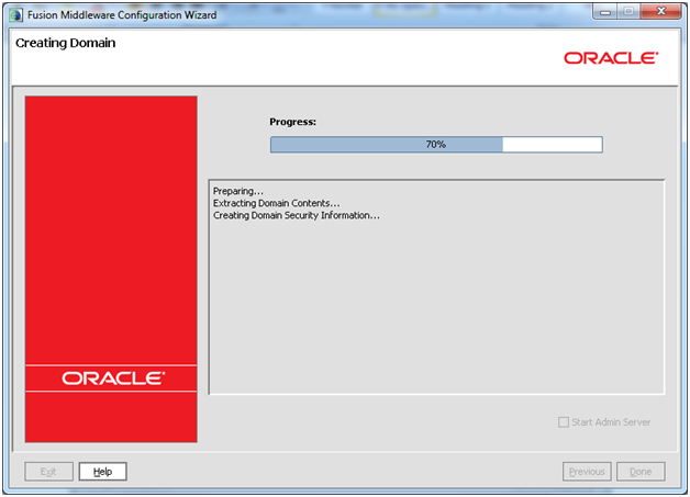 24_Oracle_Weblogic_12c_Installation_domain_creation_final_create_in_progress