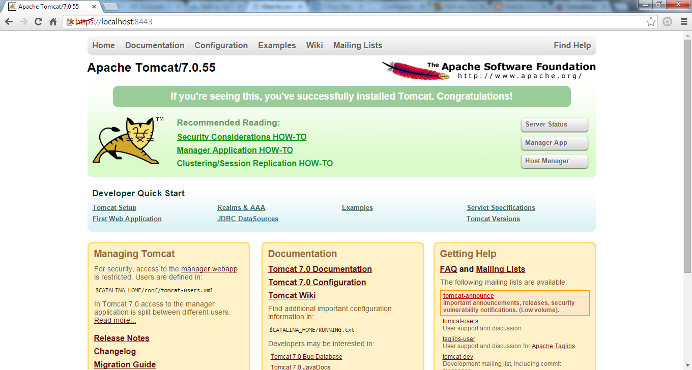 Apache tomcat server enabling sslhttps configuration for 2apachetomcat7xsslaccesshomepage xflitez Images