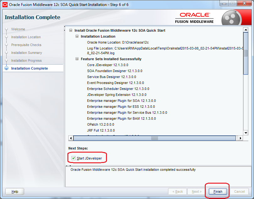 12_SOA_12c_Installation_steps_quick_wizard_step_6