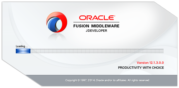13_SOA_12c_Installation_steps_jdev_start_screen