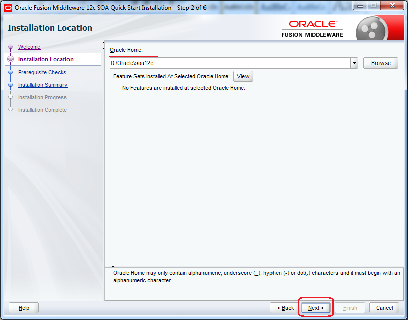 7_SOA_12c_Installation_steps_quick_wizard_step_2
