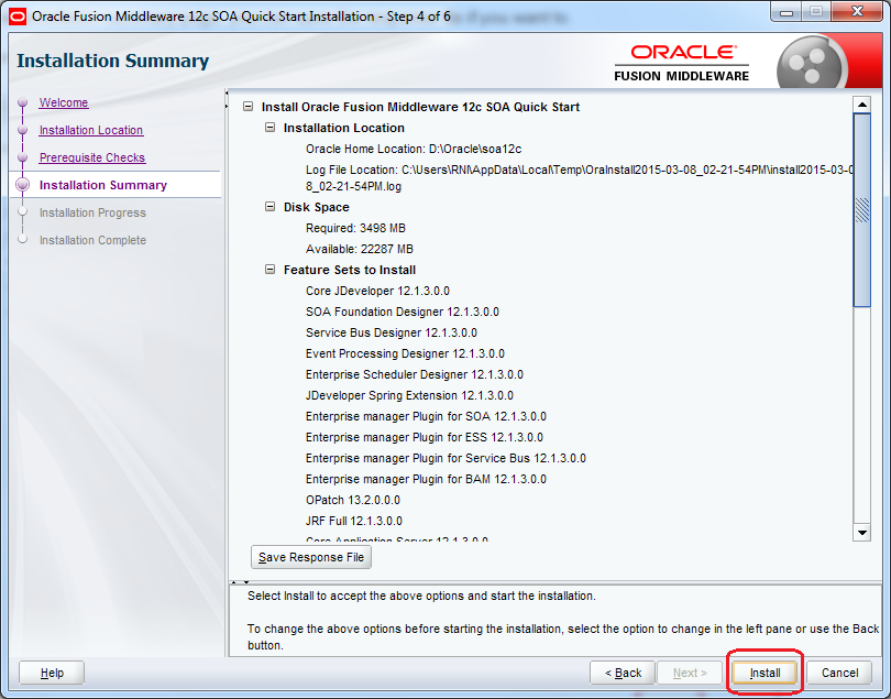 9_SOA_12c_Installation_steps_quick_wizard_step_4