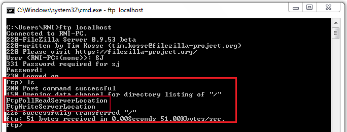 17_FileZilla_Client_to_access_Local_FTP_Server_on_Windows_7_machine_ftp_localhost_dir_listing