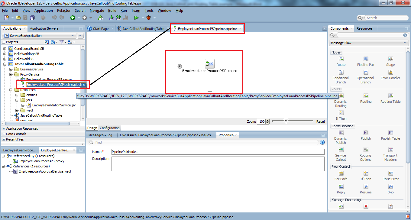 26_OSB-12c_Java_Callout_and_Routing_Table_example_Proxy_Service_pipeline_editor