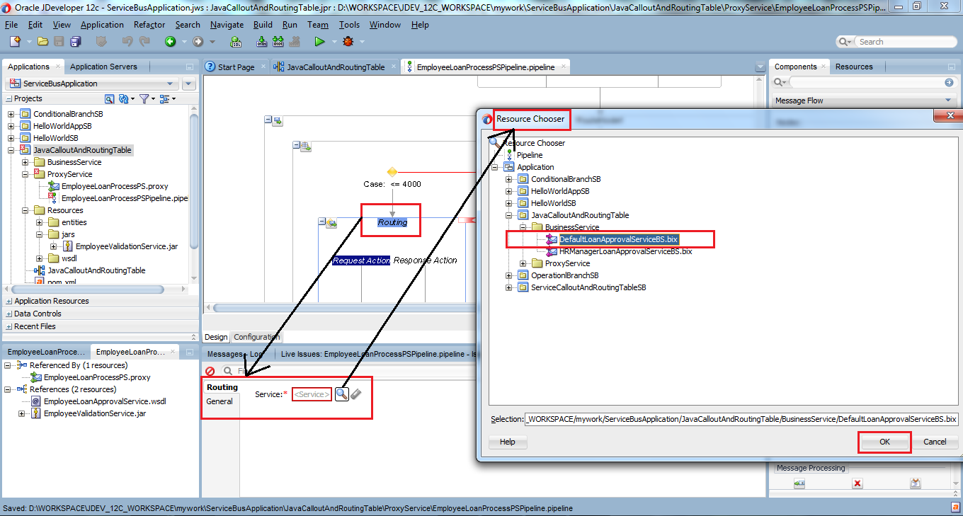 39_OSB-12c_Java_Callout_and_Routing_Table_example_drag_drop_Routing_Table_node_set_Routing_for_case_1