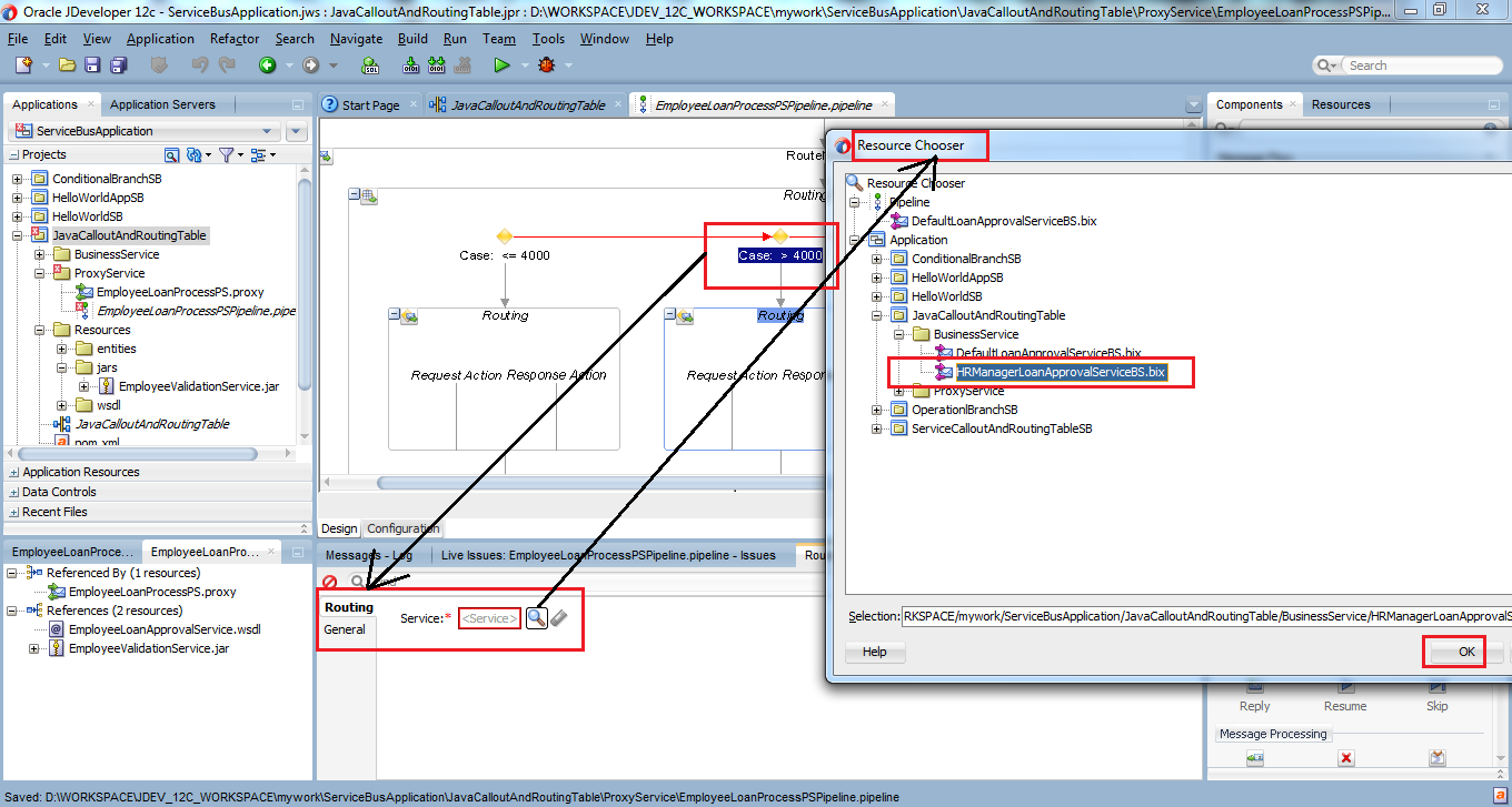 41_OSB-12c_Java_Callout_and_Routing_Table_example_drag_drop_Routing_Table_node_set_Routing_for_case_2