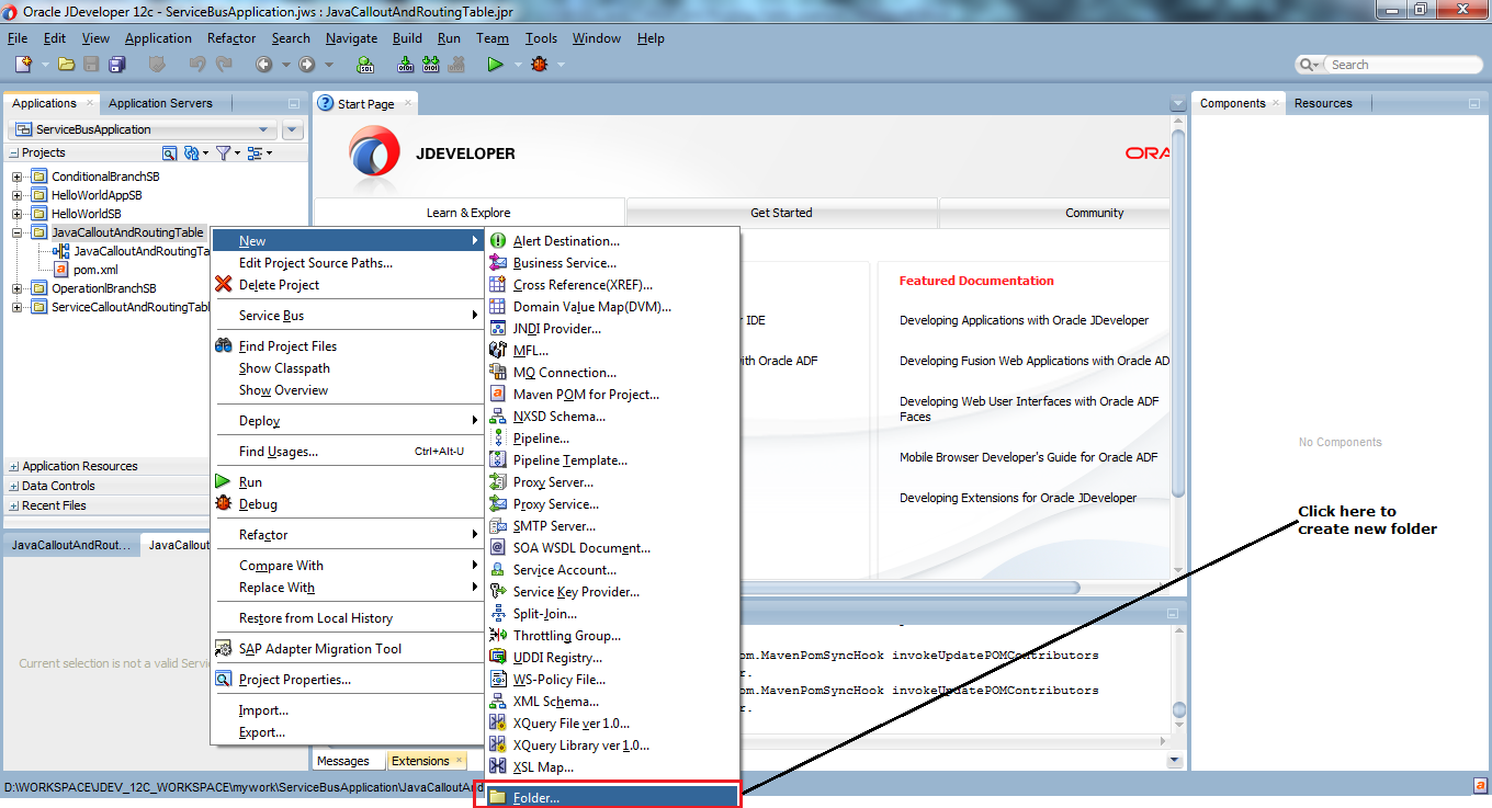 4_OSB-12c_Java_Callout_and_Routing_Table_example_create_folder_new