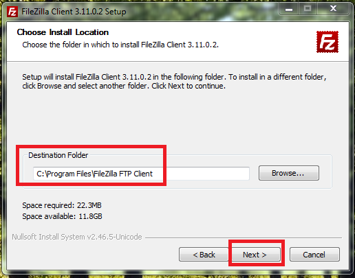 5_FileZilla_Client_to_access_Local_FTP_Server_on_Windows_7_machine_Install_Location