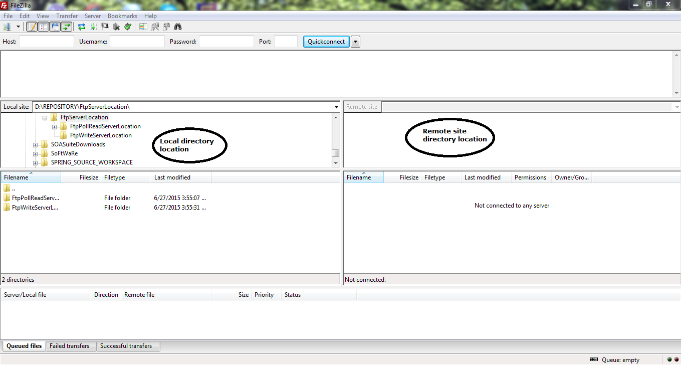 8_FileZilla_Client_to_access_Local_FTP_Server_on_Windows_7_machine_client_interface