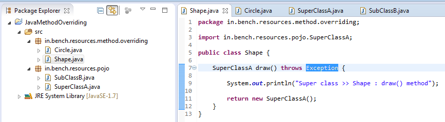 10_Method_Overriding_Instance_method_for_exception_handling_in_super_class