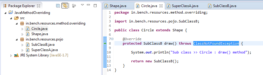 11_Method_Overriding_Instance_method_for_exception_handling_in_sub_class