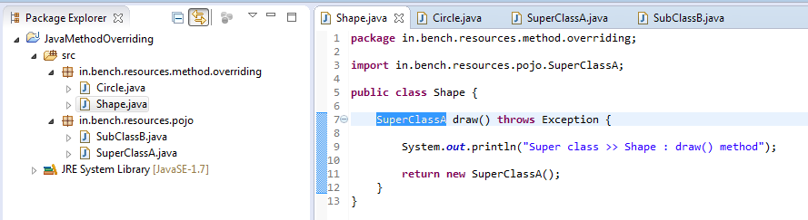 8_Method_Overriding_Instance_method_for_return_type_in_super_class