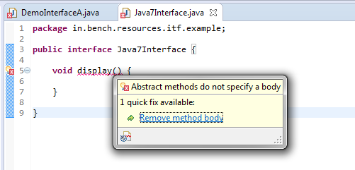 1_Interface_interview_concrete_method_error_java_7