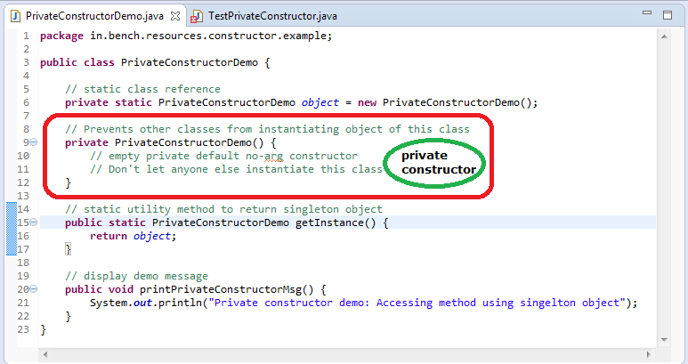 1_Java_Private_Constructor_example