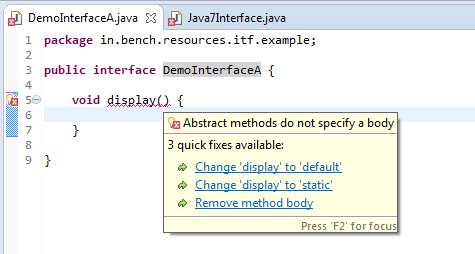 2_Interface_interview_concrete_method_error_java_8