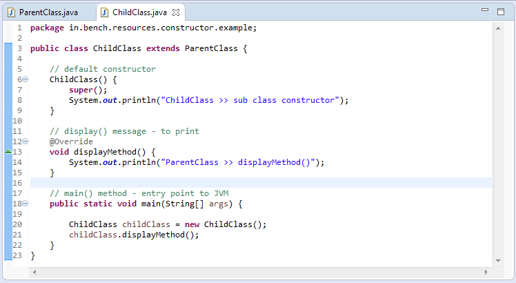 3_Static_constructor_in_java_child_class