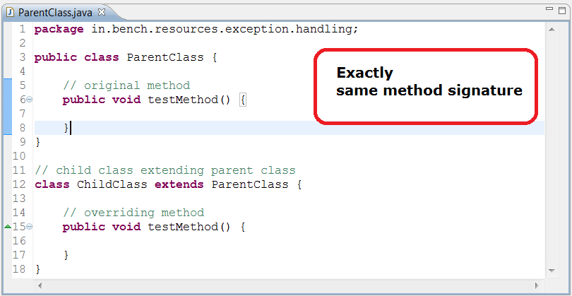 Rules for Exception handling w r t Method Overriding in Java