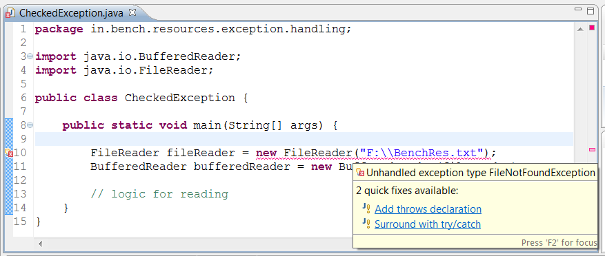 Checked Exception VS Unchecked Exception In Java 1