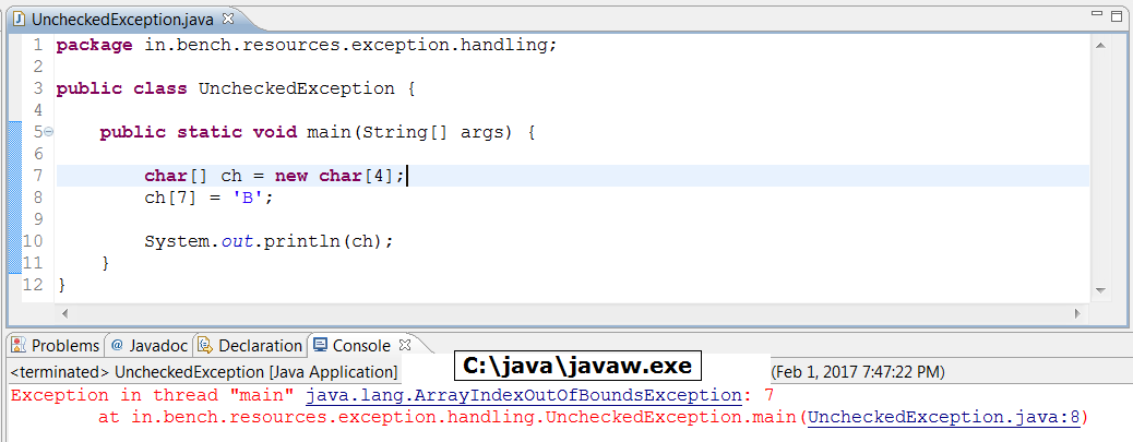 Checked Exception VS Unchecked Exception In Java 2