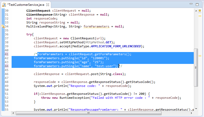how to add comment in java